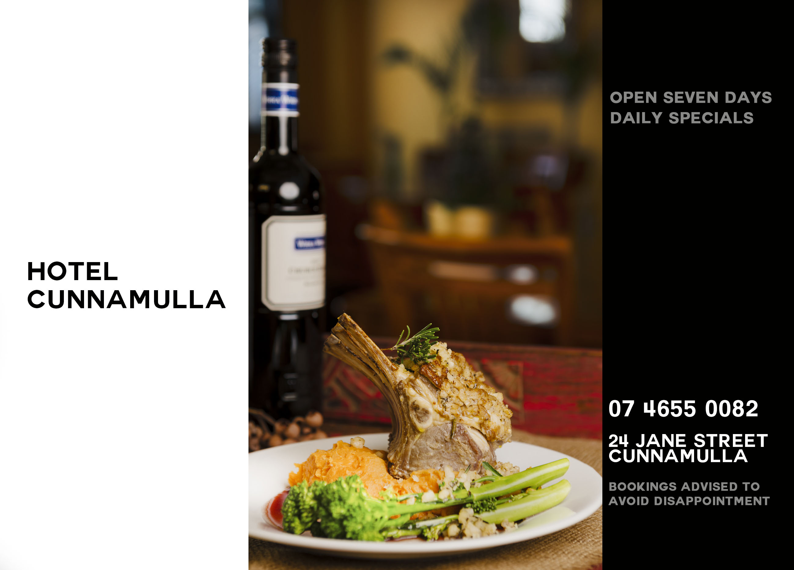 Food from the farm, not a processed factory - come and sample Cunnamulla's Restaurant and Cafe classic menu.