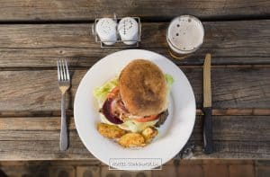 Cunnamulla Cafe The Big Feller Hamburger