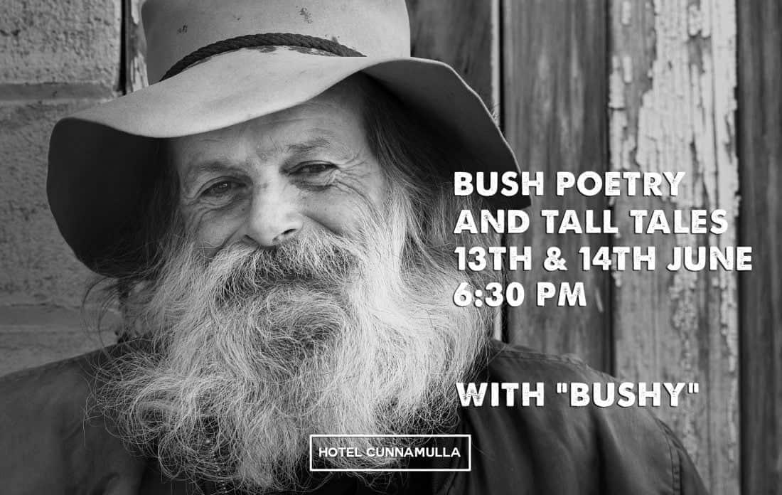 Bushy Mark Thompson Australian Bush Poetry Hotel Cunnamulla