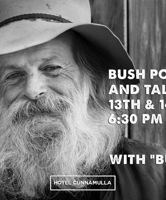 Bushy Mark Thompson Australian Bush Poetry Hotel Cunnamulla