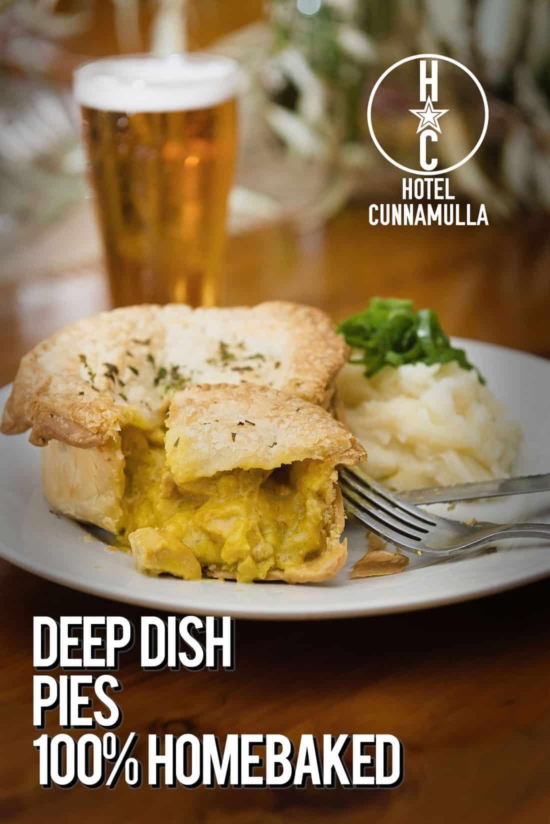 Hotel Cunnamulla Restaurant Meals Pies