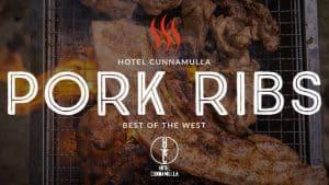 Restaurant Cafe Cunnamulla, Hotel Cunnamulla Pork Ribs Menu