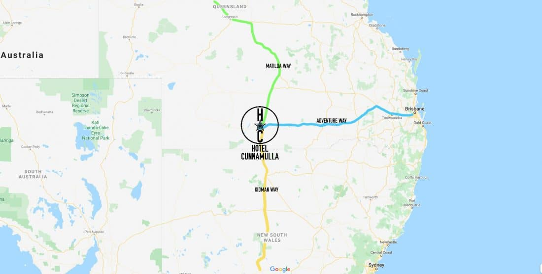 Hotel Cunnamulla Road Map