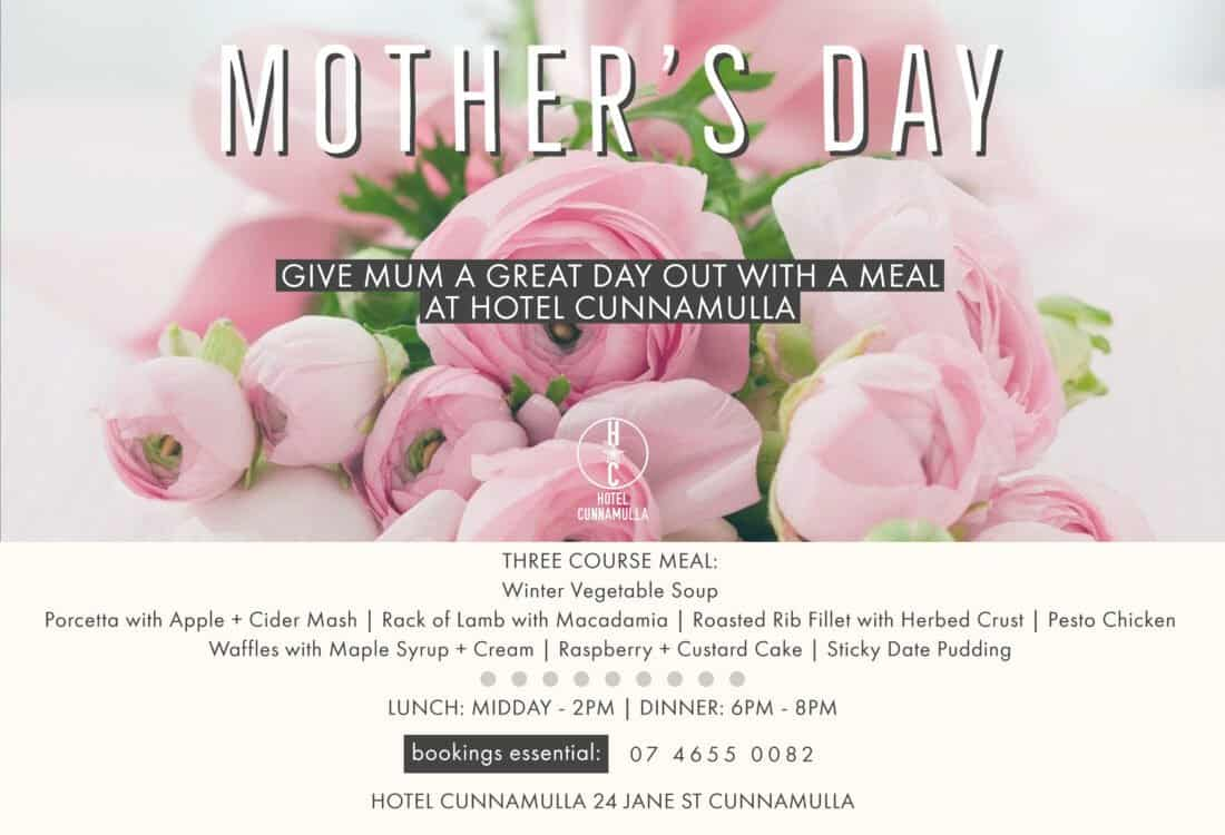 Mothers Day Cunnamulla Restaurant